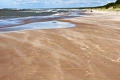 Mar Báltico en día ventoso. Fotografía de archivo