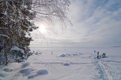 Mar Báltico en febrero Foto de archivo libre de regalías