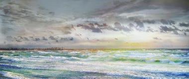 Mar Báltico en Sventoji fotografía de archivo