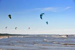 Mar Báltico, Jurmala, Letónia Imagem de Stock
