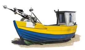 Mar Báltico Lançamento de madeira velho da pesca arrastado em terra imagem de stock royalty free