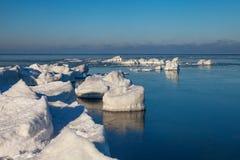 Mar Báltico no inverno. foto de stock royalty free