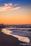 Mar Báltico no nascer do sol bonito na praia de Poland Foto de Stock Royalty Free