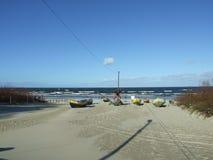 Mar Báltico no tempo de queda 9 Foto de Stock