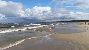 Mar Báltico no tempo de queda Fotos de Stock Royalty Free