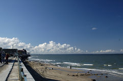 Mar Báltico. A praia em Zelenogradsk Fotografia de Stock Royalty Free