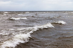 Mar Báltico tempestuoso foto de archivo libre de regalías