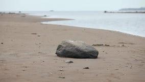 Mar Báltico vacío de la playa almacen de metraje de vídeo