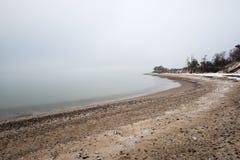 Mar Báltico y mañana de niebla Fotos de archivo libres de regalías