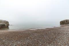 Mar Báltico y mañana de niebla Imagenes de archivo