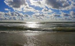Mar backlit Dramatitic Fotografia de Stock
