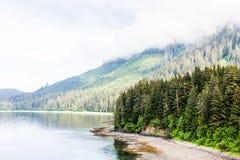 Maré baixa no canal do Alasca Imagens de Stock Royalty Free