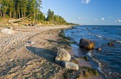 Mar Baltico alla sera Fotografie Stock