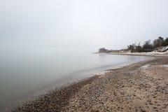 Mar Baltico e mattina nebbiosa Fotografie Stock Libere da Diritti