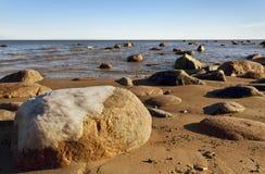 Mar Baltico in giorno nuvoloso Fotografie Stock