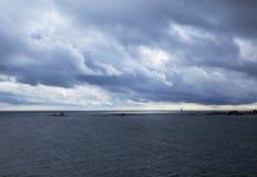 Mar Baltico, il golfo di Finlandia Fotografia Stock Libera da Diritti