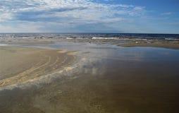 Mar Baltico latvia Jurmala fotografie stock