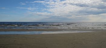 Mar Baltico latvia Jurmala fotografia stock
