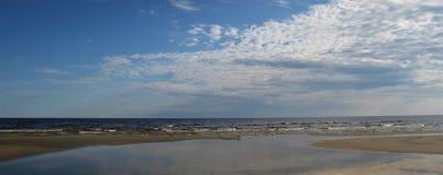 Mar Baltico latvia Jurmala immagini stock