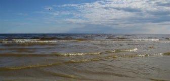 Mar Baltico latvia Jurmala immagini stock libere da diritti