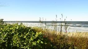 Mar Baltico, Ustka, Polonia, passeggiata stock footage