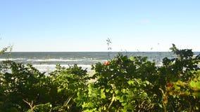 Mar Baltico, Ustka, Polonia, passeggiata archivi video