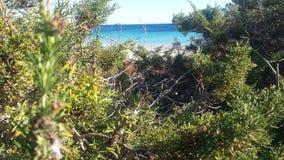 Mar. Beach eivissa ibiza mediterraneo stock photography