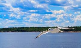 Mar blanco del cielo Imágenes de archivo libres de regalías