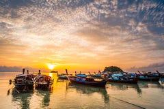 Mar bonito com a luz 9 da manhã Imagem de Stock