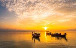 Mar bonito com a luz 10 da manhã Fotografia de Stock