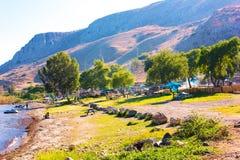 Mar bonito de Galilee em Israel Foto de Stock