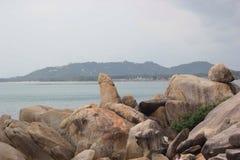 Mar bonito em Koh Samui Fotos de Stock