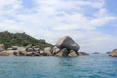 Mar bonito em Koh Samui Fotografia de Stock