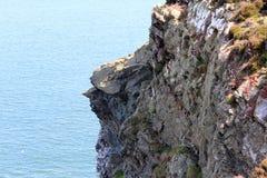 Mar bonito, Howth, Dublin Bay, Irlanda, rochas, penhasco e pedras Foto de Stock
