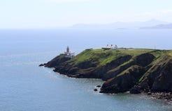 Mar bonito, Howth, Dublin Bay, Irlanda, rochas, penhasco e pedras Fotografia de Stock Royalty Free