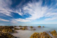 Mar brumoso Foto de archivo libre de regalías