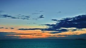 Mar, céu e por do sol Fotografia de Stock