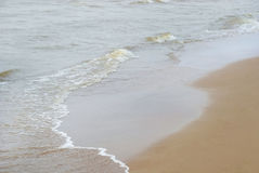 Mar calmo, litoral Fotografia de Stock