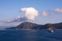 Mar calmo, Portoferraio, console da Ilha de Elba Fotografia de Stock