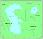 Mar Caspio Foto de archivo libre de regalías