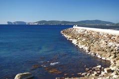 Mar cerca de Alghero Imagen de archivo libre de regalías