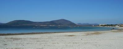 Mar cerca de Alghero Foto de archivo libre de regalías