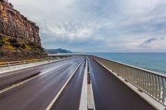Mar Cliff Bridge Grand Pacific Drive Austrália Foto de Stock