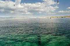 Mar coloreado de Ibiza Imagenes de archivo