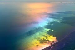 Mar colorido Imágenes de archivo libres de regalías