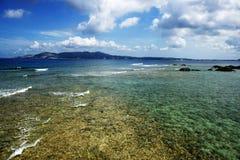 Mar colorido en Okinawa Foto de archivo