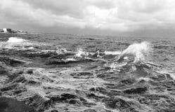 Mar com ondas Imagem de Stock