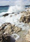 Mar com ondas Foto de Stock Royalty Free