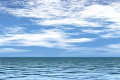 Mar con el cielo azul Imágenes de archivo libres de regalías