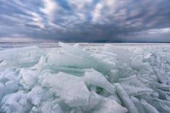 Mar congelado Fotografía de archivo libre de regalías